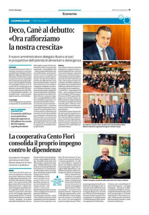 Deco Industrie sul Corriere della Romagna